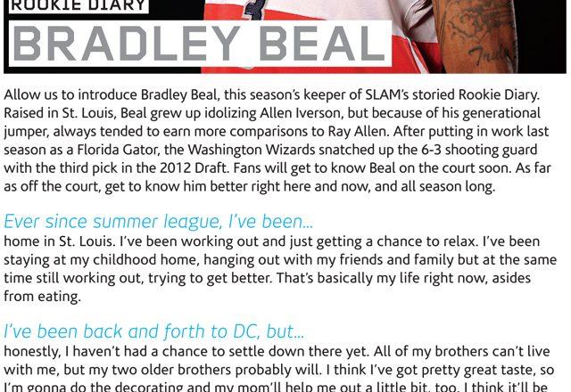 Brad Beal SLAM Rookie Diary