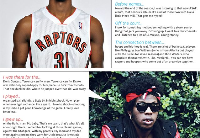 Terrence Ross and Trinidad Jame$ in SLAM Magazine