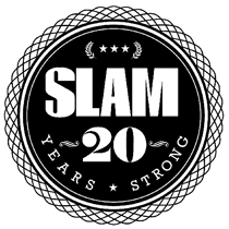 #SLAM Magazine 20th Anniversary Logo