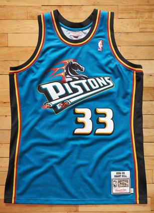 Grant Hill Detroit Pistons Throwback Jersey