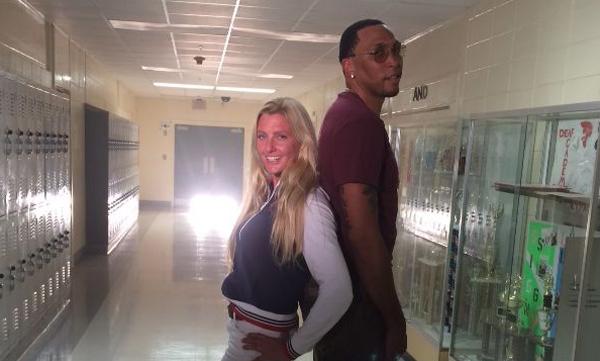 Shawn Marion and Kerstie Allen