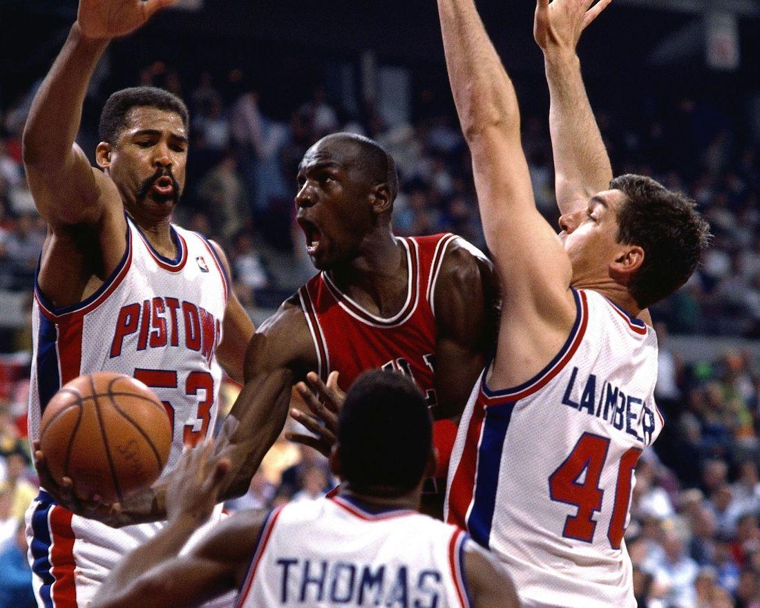 The Pistons employing The Jordan Rules