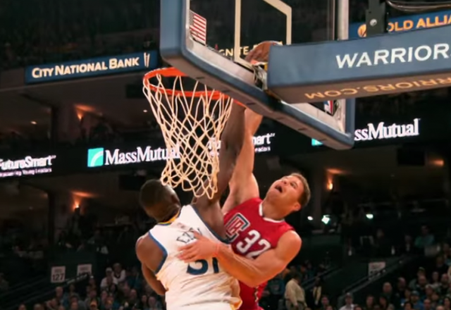 Festus Ezeli blocks Blake Griffin