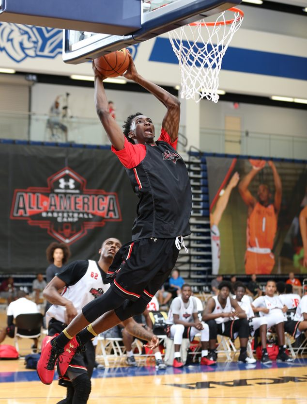 CHARLOTTE, NC - July 7, 2016: The Under Armour All America Basketball Camp at Queens University in Charlotte, NC. (Photo by Kelly Kline/Under Armour)