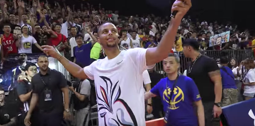 Stephen Curry Visits Asia