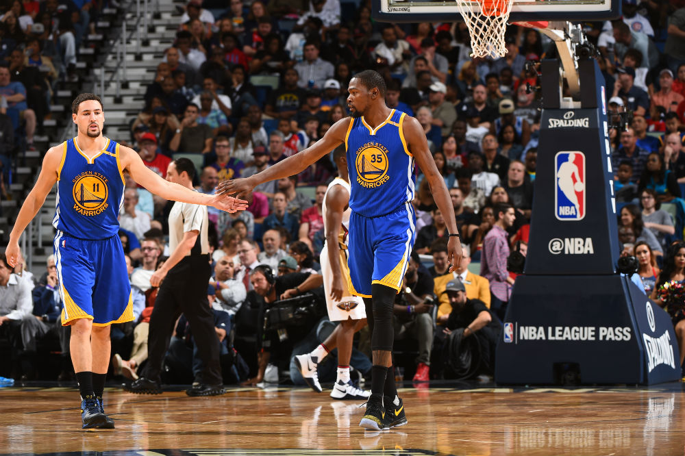klay thompson kevin durant warriors