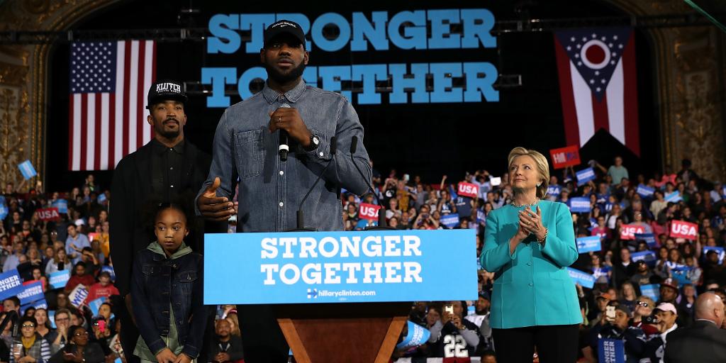 LeBron-James-JR-Smith-Hillary-Clinton