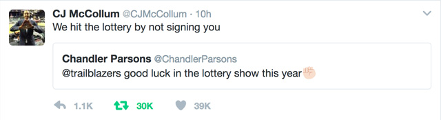 cj mccollum tweet