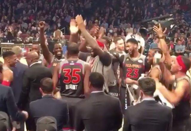 westbrook durant celebration