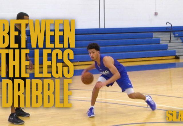 between the legs dribble