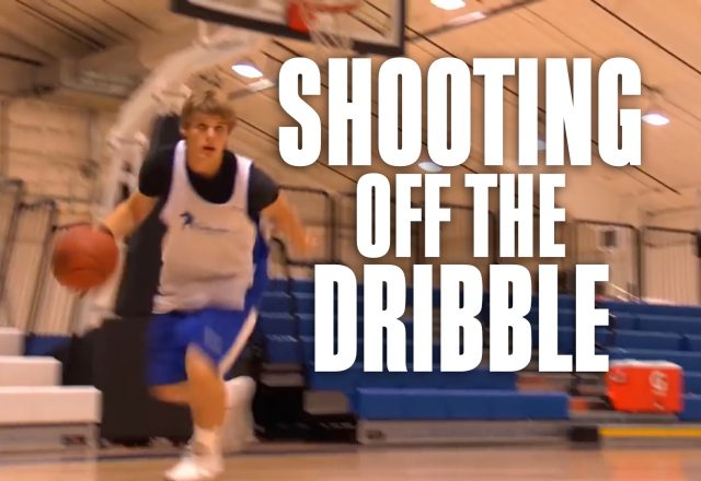 shooting off the dribble drill