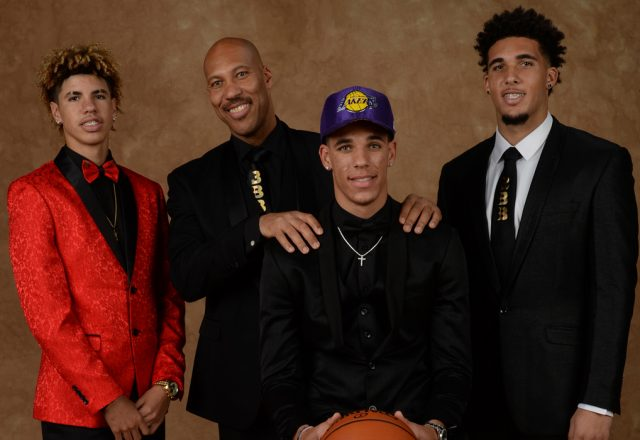 lavar ball lonzo ball liangelo ball lakers