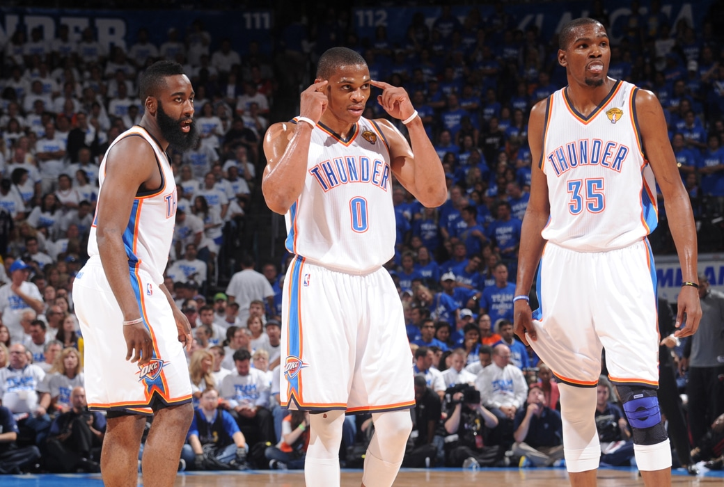 russell westbrook kevin durant james harden
