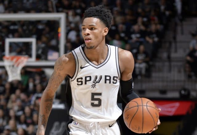 dejounte murray lead spurs