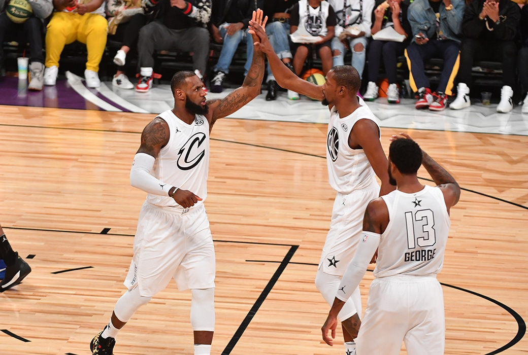 LeBron James, Kevin Durant, Paul George