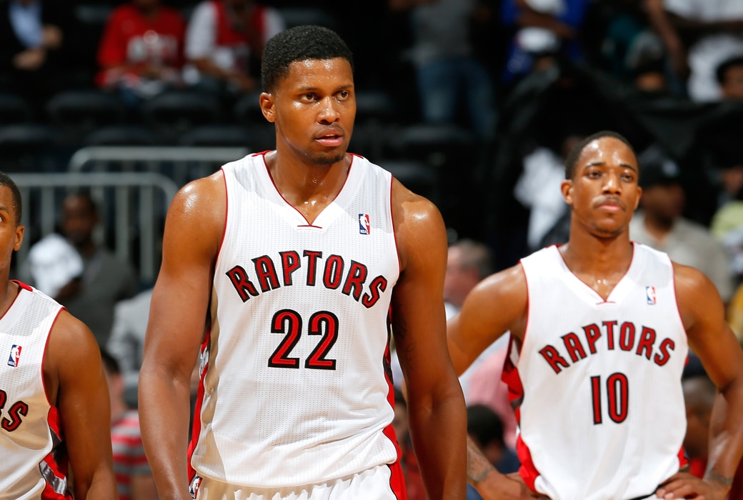 rudy gay raptors spurs night and day
