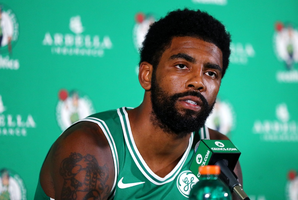 kyrie irving jersey retired celtics