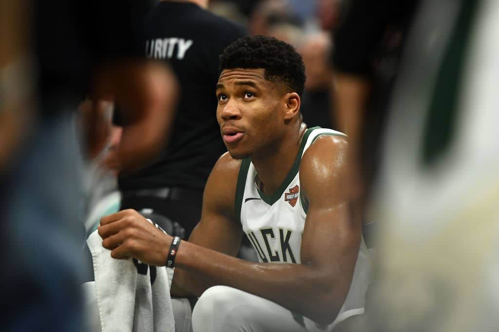 Giannis Antetkounmpo of the Milwaukee Bucks
