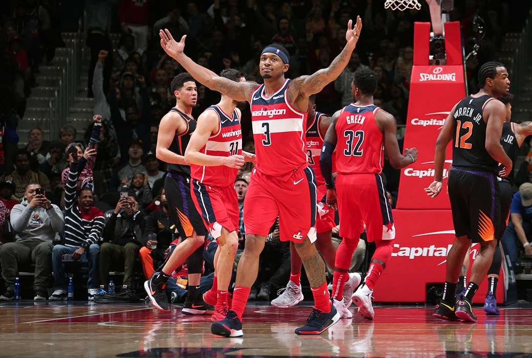bradley beal wizards post up
