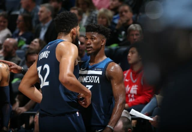 Jimmy Butler and Karl Anthony-Towns