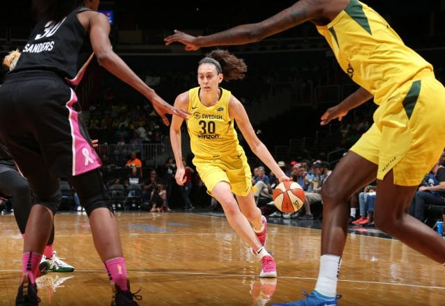Breanna Stewart of the Seattle Storm