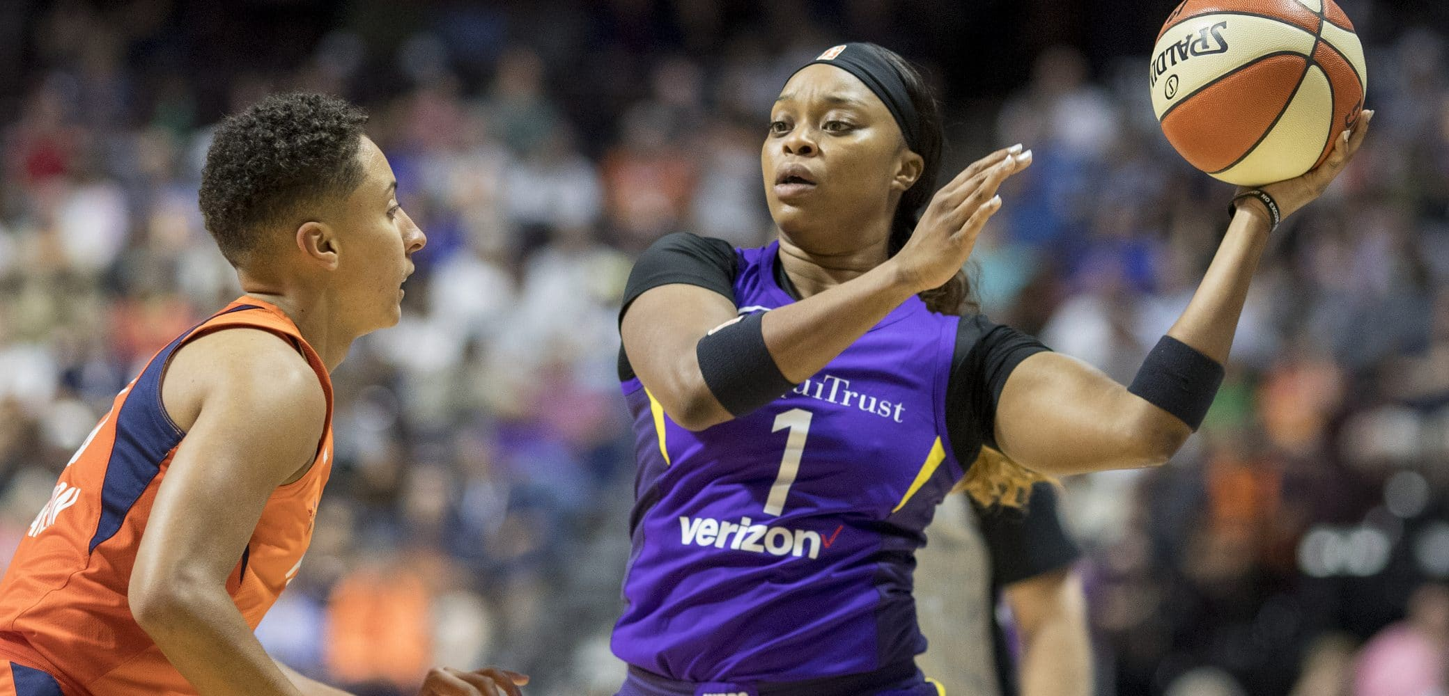Odyssey Sims of the Los Angeles Sparks