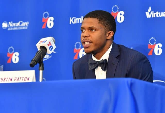 Justin Patton of the Philadelphia 76ers