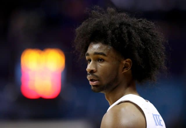 Coby White of the North Carolina Tar Heels