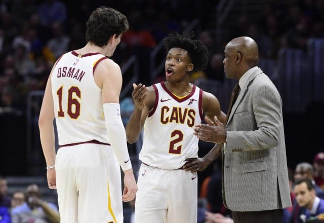 Larry Drew, Collin Sexton of the Cleveland Cavaliers