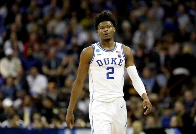 Cam Reddish of the Duke Blue Devils