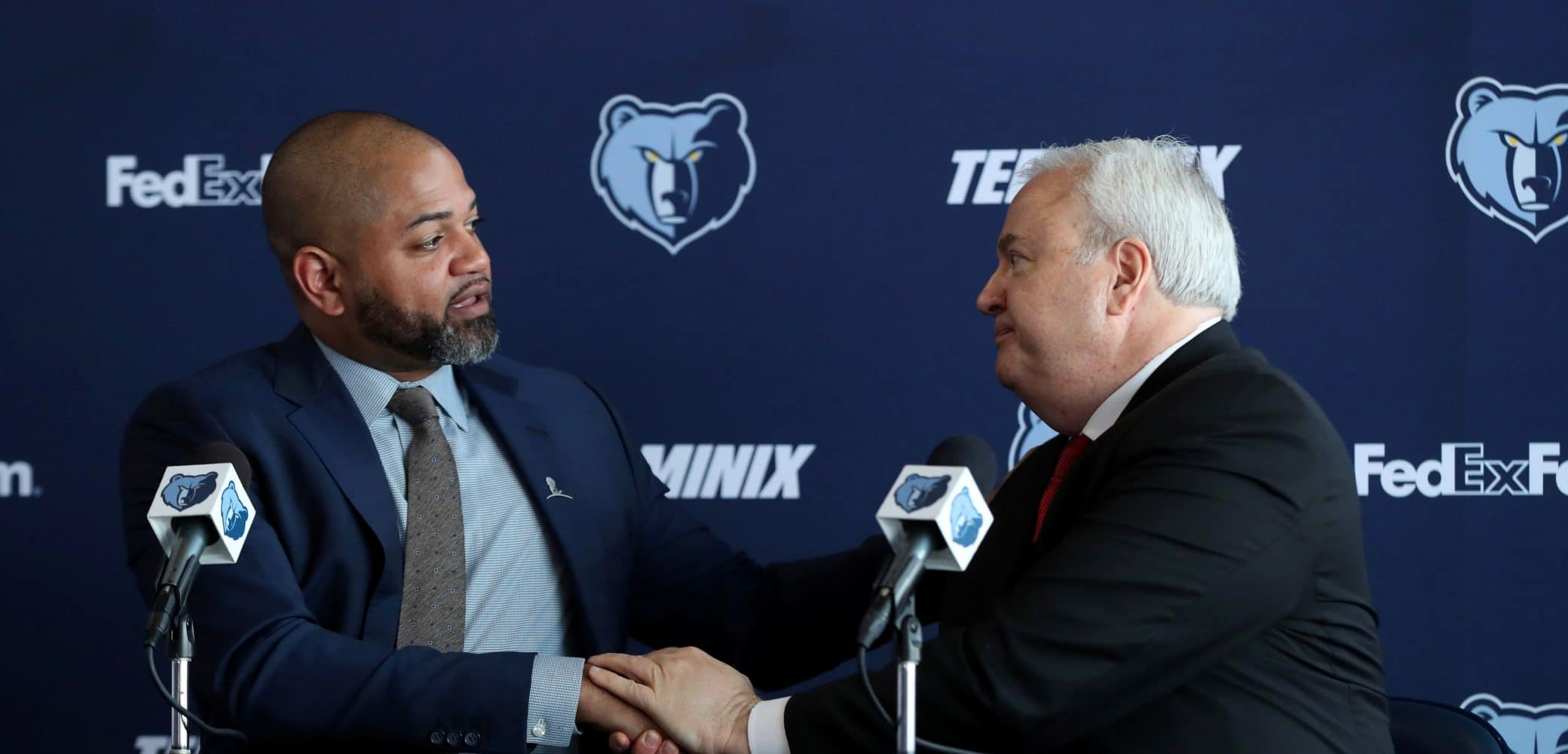 Chris Wallace, J.B Bickerstaff of the Memphis Grizzlies