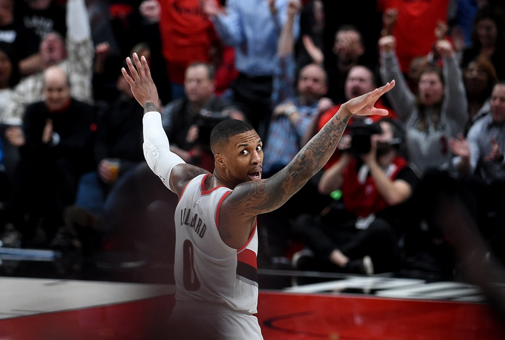 damian lillard cj mccollum blazers post up