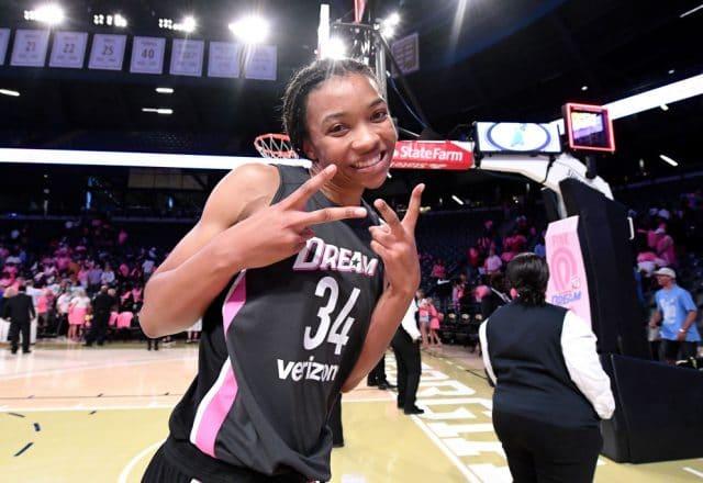 Imani McGee-Stafford of the Atlanta Dream
