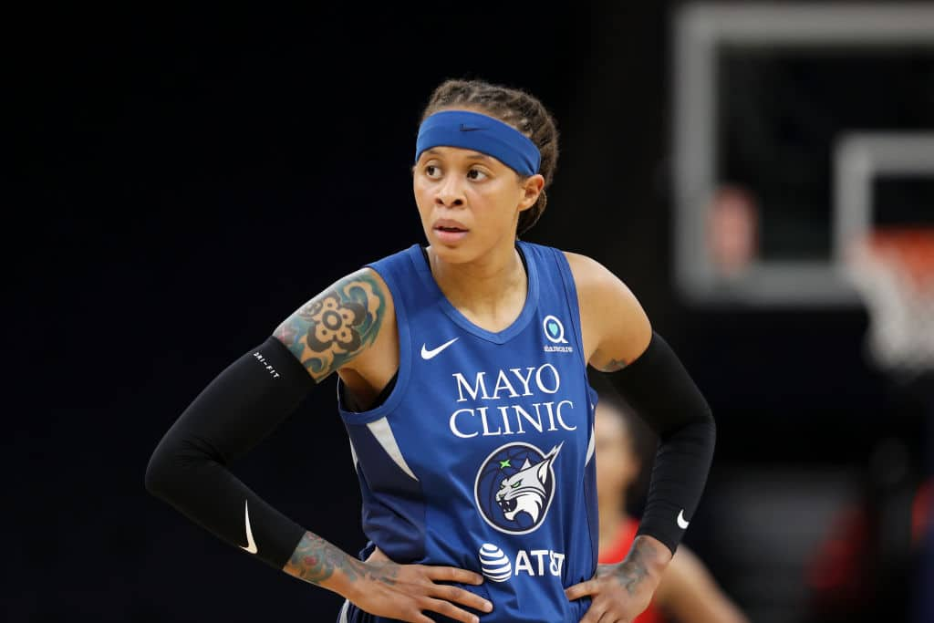Seimone Augustus of the Minnesota Lynx will be sidelined after having knee surgery.
