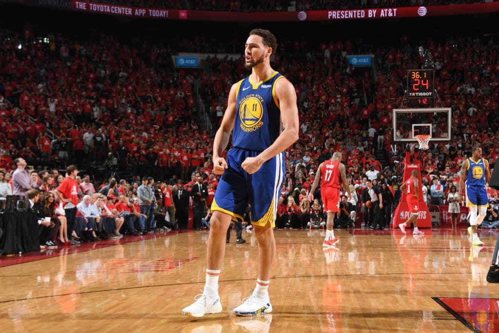 Klay Thompson of the Golden State Warriors