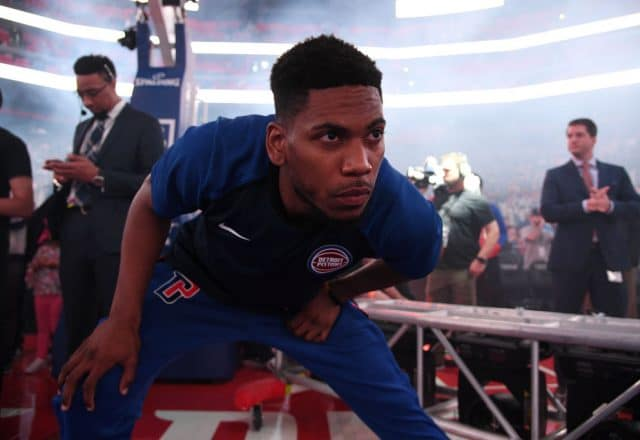 Glenn Robinson III of the Detroit Pistons