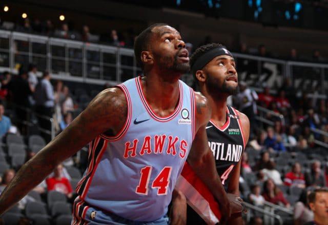 Dewayne Dedmon of the Atlanta Hawks