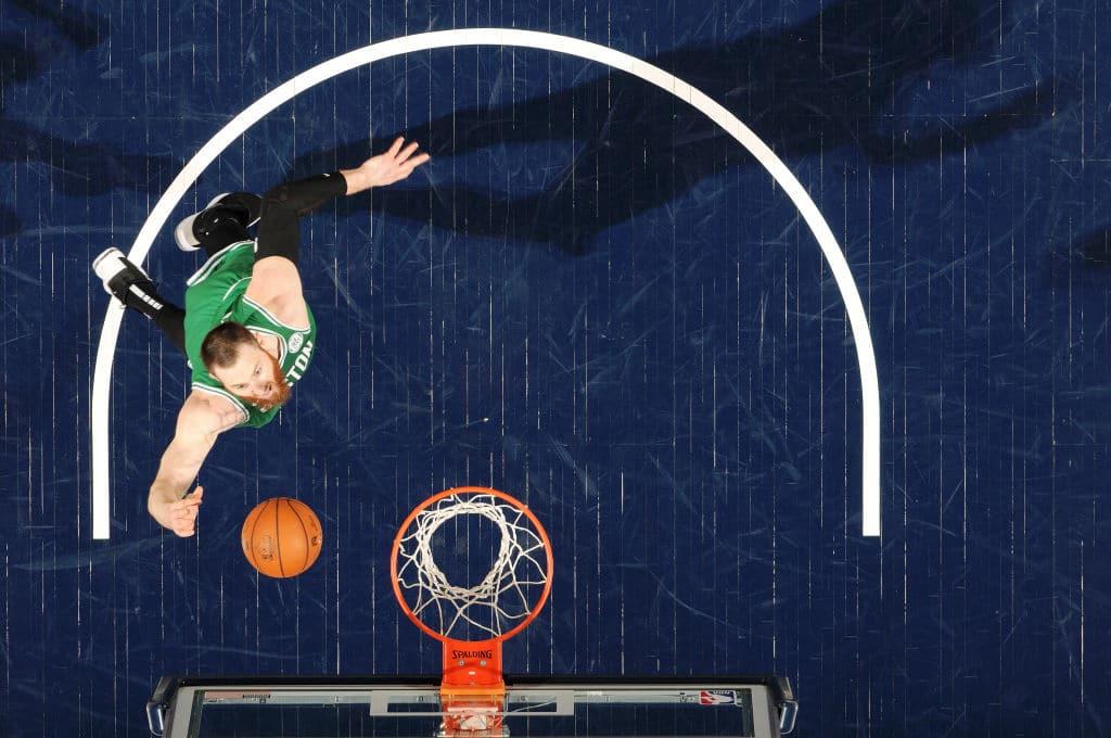 Aron Baynes of the Boston Celtics