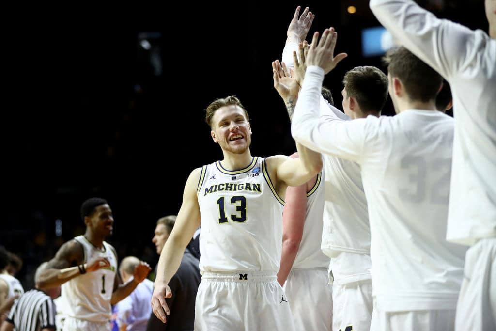 Ignas Brazdeikis of the Michigan Wolverines
