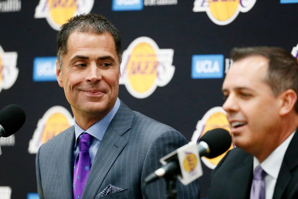 Rob Pelinka of the Los Angeles Lakers