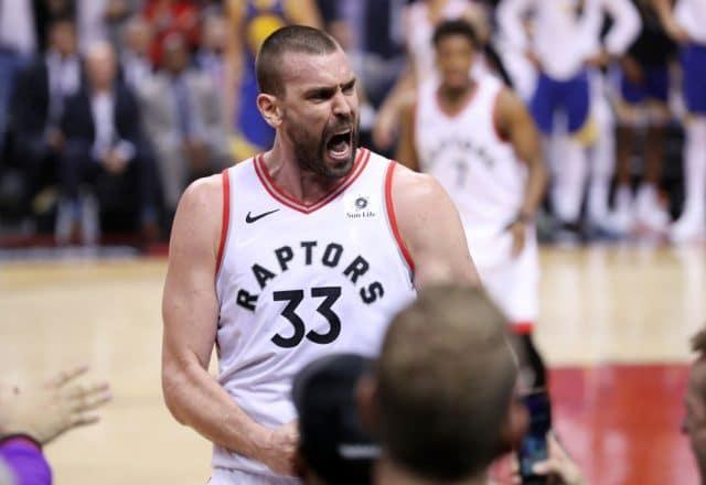 Marc Gasol of the Toronto Raptors