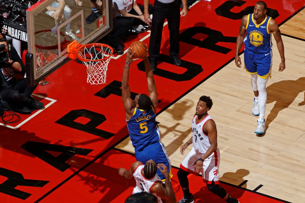 Kevon Looney of the Golden State Warriors