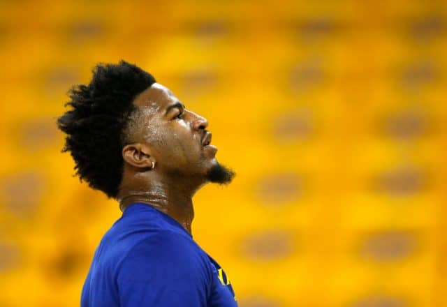 Jordan Bell of the Golden State Warriors