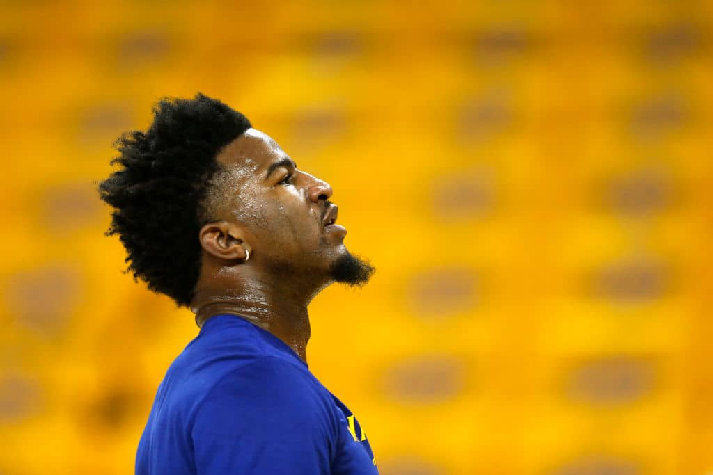 Jordan Bell of the Golden State Warriors