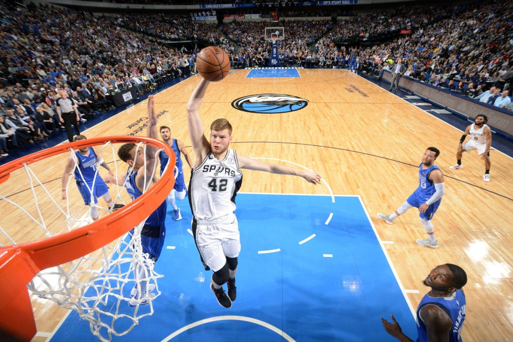 Davis Bertans of the San Antonio Spurs