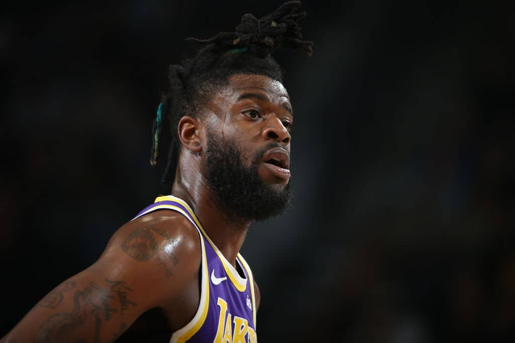 Reggie Bullock of the Los Angeles Lakers