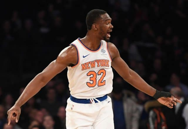 Noah Vonleh of the New York Knicks