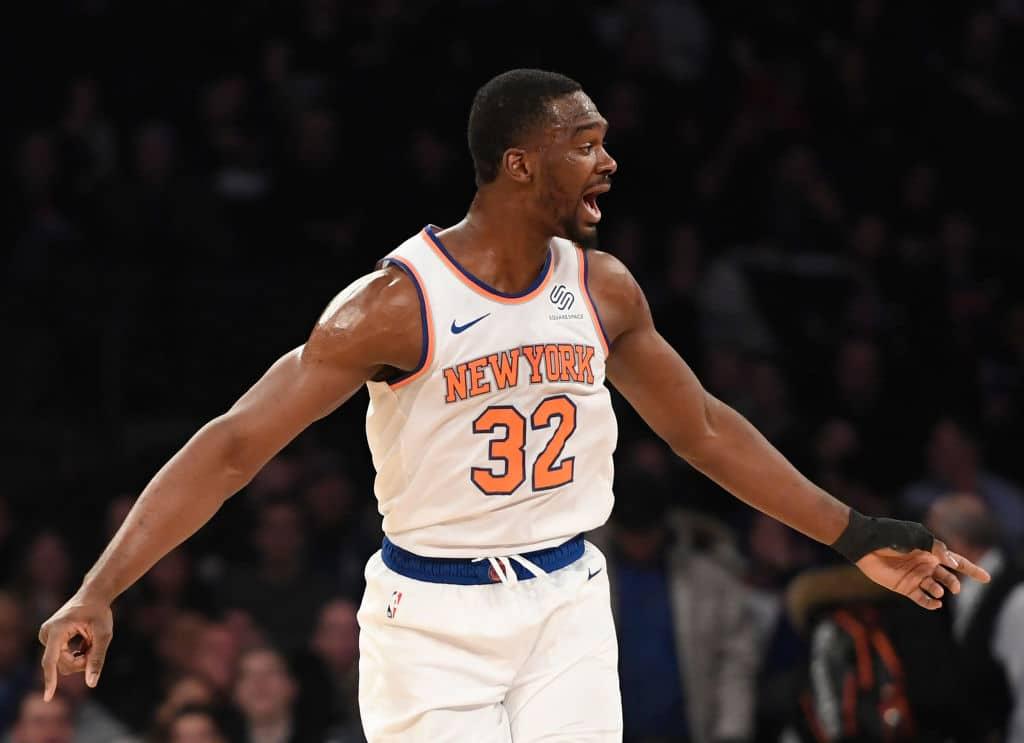 Noah Vonleh of the New York Knicks