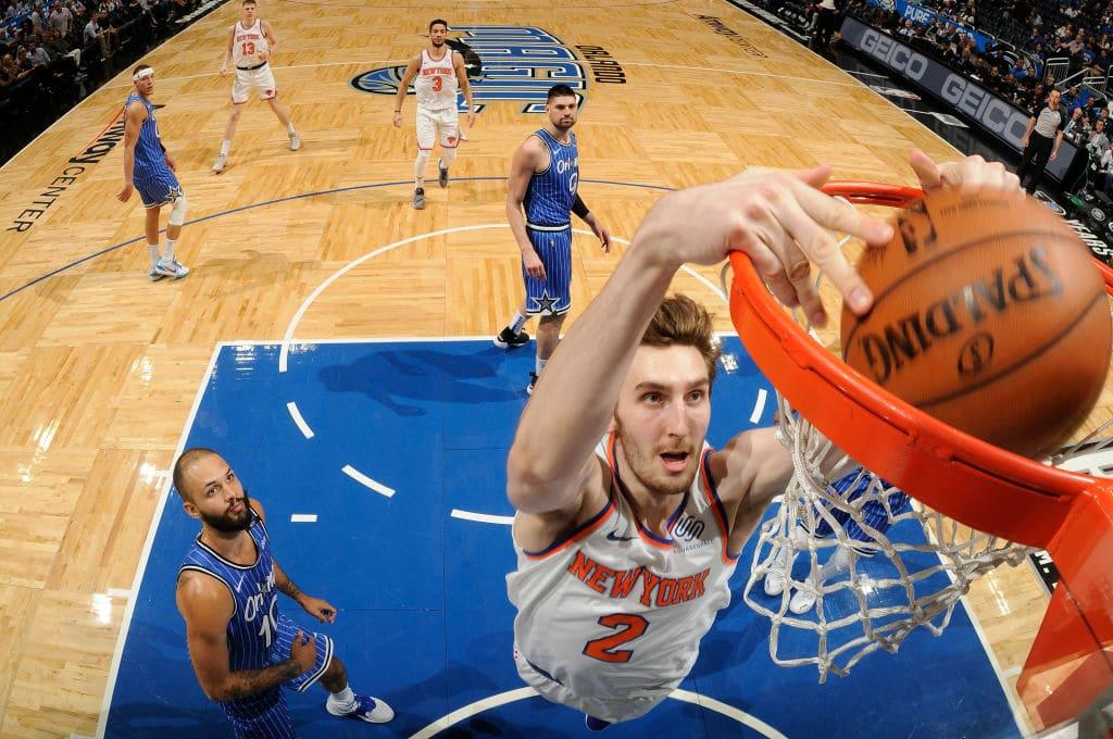 Luke Kornet of the New York Knicks