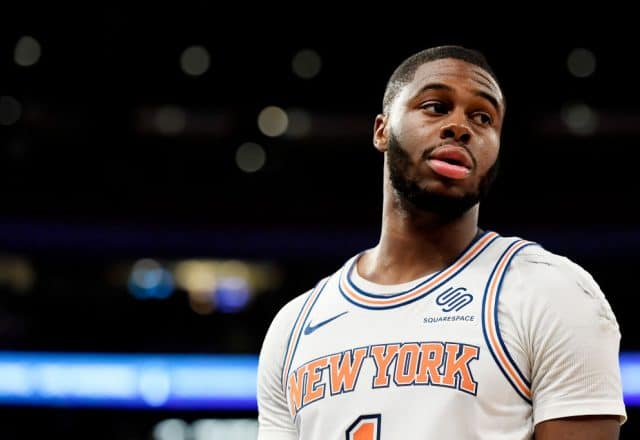 Emmanuel Mudiay of the New York Knicks